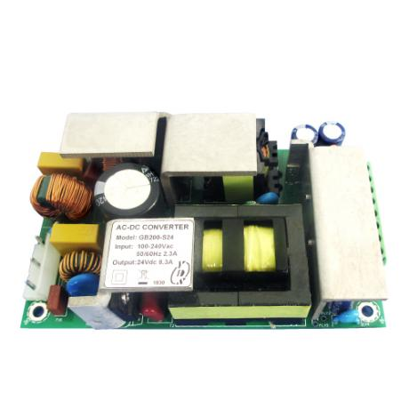 GB200 Series 200W 3KVac Isolation Single Output AC-DC Converter (Open Frame)