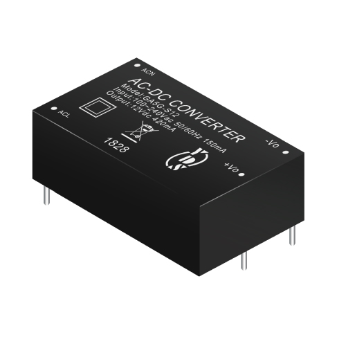GA5G Series 5W 3KVac Isolation Regulated Output Green AC-DC Converter (Module)